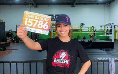 Racheal from Rebel FM raises funds for LIVIN through 21km marathon